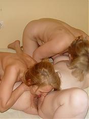 Three mature lesbians and a throbbing cock