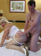 This big titted granny wants a hard cock