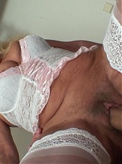 He happens to love older chicks and this wrinkled slut has the goods to give him happiness